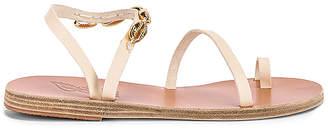 Ancient Greek Sandals Apli Eleftheria Gold Shells Sandal
