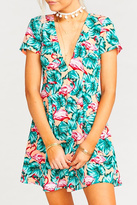 Show Me Your Mumu Flamingo Floral Print Dress