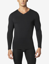 Tommy John SleekHeatTM Long John V-Neck Set in Black