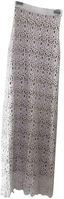 Miguelina White Cotton Skirt for Women