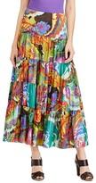 Lauren Ralph Lauren Floral Print Tiered Maxi Skirt