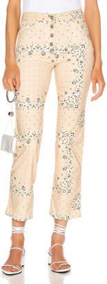 BEIGE Miaou Junior Pants in Bandana Print   FWRD