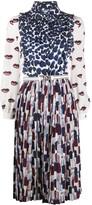 Prada printed mid-length dress