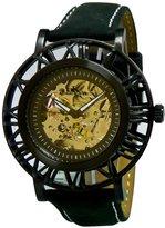 Adee Kaye Men's Helm Pirate 47.47mm Steel Bracelet & Case Automatic Analog Watch AK2258-MIPB-MESH
