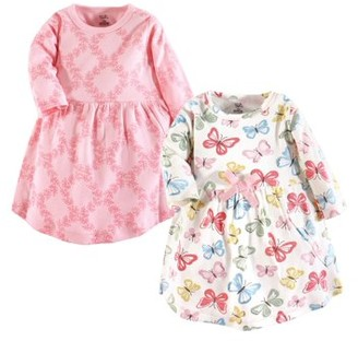 Touched by Nature Toddler Long Sleeve Organic Dress 2pk (Baby Girls)