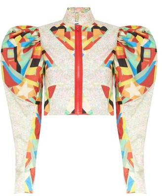 Matty Bovan - Puff-sleeve Panelled Floral-print Deadstock Blouse - Multi