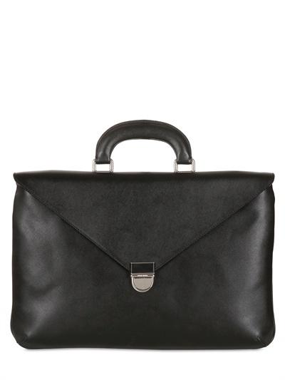 Giorgio Armani Saffiano Leather Briefcase