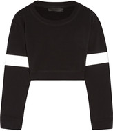 Norma Kamali Cropped stretch-cotton sweatshirt
