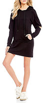 GB Active Elbow Cutout Sleeves Hoodie Dress