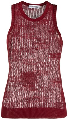Courreges Sheer Knitted Vest Top