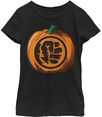 Fifth Sun Women's Tee Shirts BLACK - Hulk Black Pumpkin Tee - Juniors