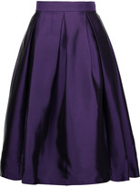 Raoul Florence pleated silk-blend satin-twill skirt