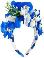 Patachou - floral headband - kids - Cotton/Metal (Other) - One Size