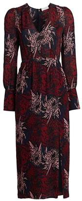 A.L.C. Bailey Floral Silk Midi Dress