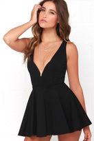 LuLu*s I Feel Good Black Skort Dress