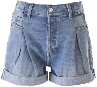 RE/DONE Pleated Denim Shorts