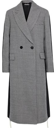 Stella McCartney Chana Double-breasted Houndstooth Wool And Gabardine Coat