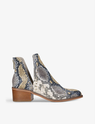 Steve Madden Conspire snakeskin-print faux-leather ankle boots