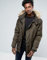 Le Breve Parka With Faux Fur Hood