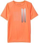 Under Armour Kids Tech Glow Gradient Wordmark Short Sleeve (Big Kids) (Beta/Pitch Gray) Boy's Clothing