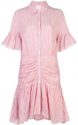 Cinq à Sept rushed striped dress