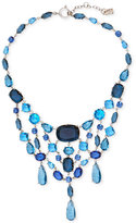 Lauren Ralph Lauren Silver-Tone Multi-Stone Statement Necklace