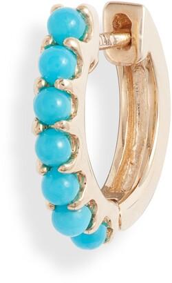 Maya Brenner Stone Huggie Hoop Earring