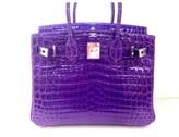 Hermes pristine (PR Ultra Violet Bright Purple Crocodile 30cm Birkin Bag