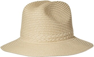 Brooklyn Cloth Women's Straw Sun Fedora Panama Beach Hat