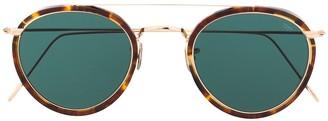 Eyevan 7285 Tortoiseshell Aviator Frame Sunglasses