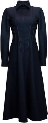Lake Studio Collared Wool Midi Dress Size: 40