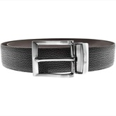 Giorgio Armani Jeans Reversible Leather Belt Black