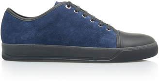 Lanvin Cap-Toe Suede Low-Top Sneakers
