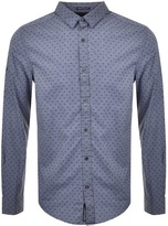 Superdry Ultimate Vice Long Sleeve Shirt Blue