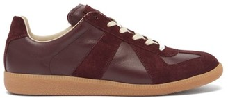Maison Margiela Replica Suede And Leather Trainers - Burgundy