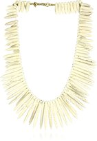 Kenneth Jay Lane Bone Sticks and Gold Clasp Necklace