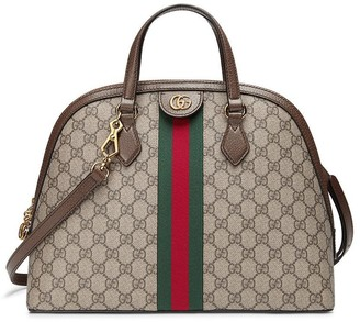 Gucci beige Ophidia GG medium top handle bag