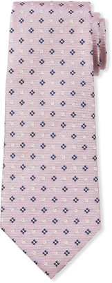 Ermenegildo Zegna Men's Micro-Flowers & Circles Silk Tie