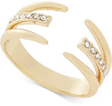 BCBGeneration Gold-Tone Crystal Claw Statement Ring