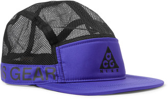 Nike Acg Nrg Aw84 Logo-Embroidered Mesh And Twill Baseball Cap
