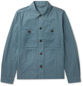 Mr P. Garment-Dyed Cotton-Twill Overshirt