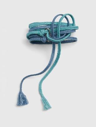 Gap Double Rope Tie-Belt