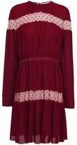 Giambattista Valli Point D'esprit-paneled Gathered Crepe Mini Dress