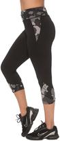 Black & Gray Camouflage Capri Leggings - Plus Too