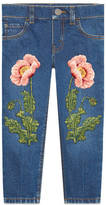 Gucci Children's denim pant with embroidery