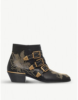 Thumbnail for your product : Chloé Susanna leather heeled ankle boots
