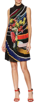 Mary Katrantzou Heidi Pleated Printed Shift Dress