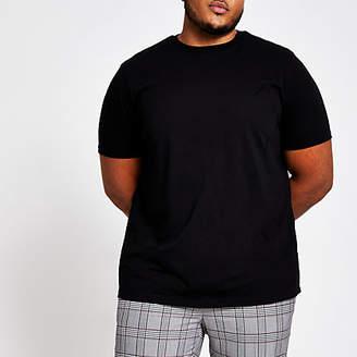 River Island Big and Tall black short sleeve T-shirt