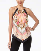Thalia Sodi Scarf-Print Chain-Halter Top, Created for Macy's