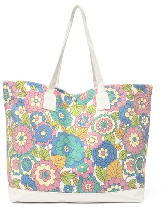 Dodo Bar Or Litta Floral-print Canvas Tote Bag - Womens - Blue Multi